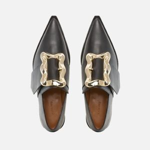 Rejina Pyo   Leather Brooke Good Buckle Loafers